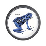 Blue Poison Frog Wall Clock