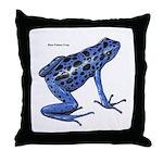 Blue Poison Frog Throw Pillow