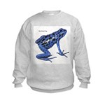 Blue Poison Frog (Front) Kids Sweatshirt