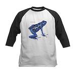 Blue Poison Frog Kids Baseball Jersey