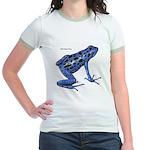 Blue Poison Frog (Front) Jr. Ringer T-Shirt