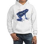 Blue Poison Frog (Front) Hooded Sweatshirt