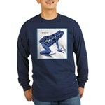 Blue Poison Frog (Front) Long Sleeve Dark T-Shirt