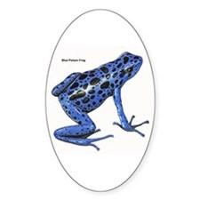 Blue Poison Frog Oval Decal