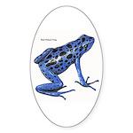 Blue Poison Frog Oval Sticker