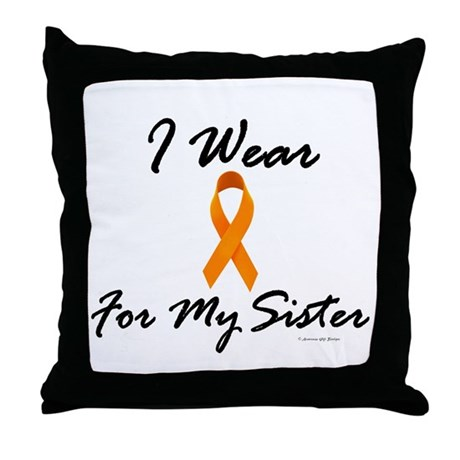I Wear Orange For My Sister 1 Throw Pillow