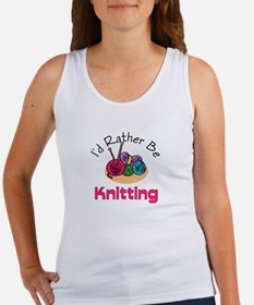 I'd Rather Be Knitting Women's Tank Top