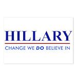 Hillary Clinton - Change we DO Believe! Postcards