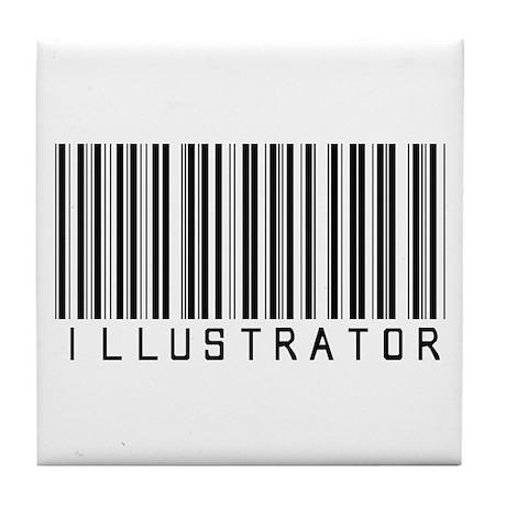 Illustrator Barcode Tile Coaster
