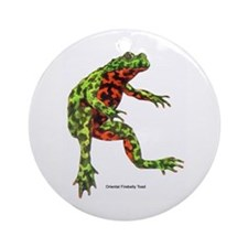 Firebelly Toad Ornament (Round)