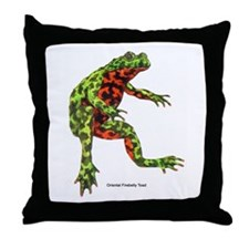 Firebelly Toad Throw Pillow