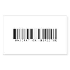 Immigration Inspector Barcode Sticker (Rectangular
