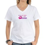 ALL THE HOT GIRLS LOVE OBAMA Women's V-Neck T-Shir