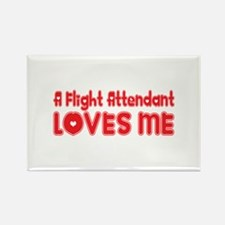 A Flight Attendant Loves Me Rectangle Magnet