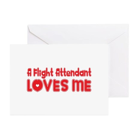 A Flight Attendant Loves Me Greeting Cards (Pk of