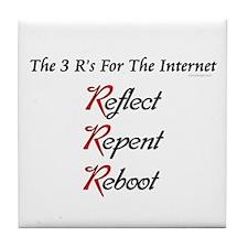Internet's 3 R's Tile Coaster