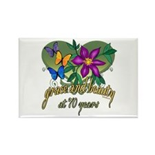 Beautiful 70th Rectangle Magnet