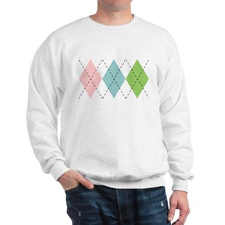 Pastel Argyle Sweatshirt