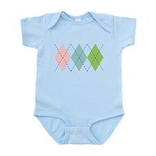 Pastel Argyle Infant Bodysuit
