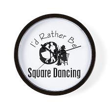 Square Dancing Wall Clock