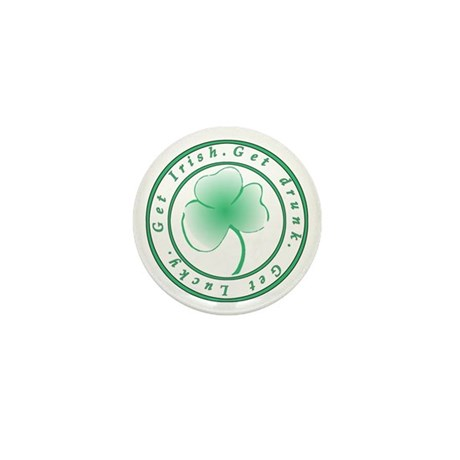 Irish, Drunk, Lucky Mini Button