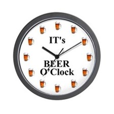 Its Beer O'Clock Wall Clock