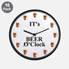 """Its Beer O'Clock 3.5"""" Button (10 pack)"""