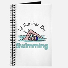 I'd Rather Be Swimming Journal