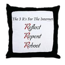 Internet's 3 R's Throw Pillow