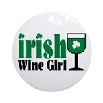 Irish Wine Girl Ornament (Round)