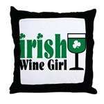 Irish Wine Girl Throw Pillow