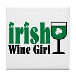Irish Wine Girl Tile Coaster