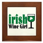 Irish Wine Girl Framed Tile
