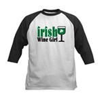 Irish Wine Girl Kids Baseball Jersey