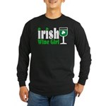 Irish Wine Girl Long Sleeve Dark T-Shirt