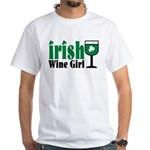 Irish Wine Girl White T-Shirt