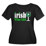 Irish Wine Girl Women's Plus Size Scoop Neck Dark