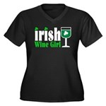 Irish Wine Girl Women's Plus Size V-Neck Dark T-Sh
