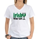 Irish Wine Girl Women's V-Neck T-Shirt