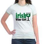Irish Wine Girl Jr. Ringer T-Shirt