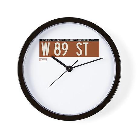89th Street in NY Wall Clock