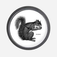 Gray Squirrel Wall Clock