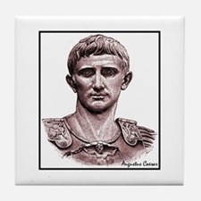 "Faces ""Augustus"" Tile Coaster"