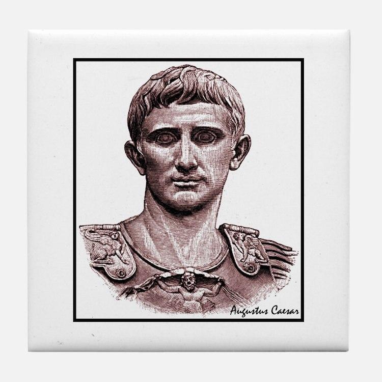 "Faces ""Augustus"" Tile Coaster"