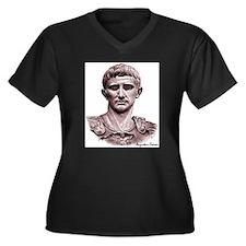"Faces ""Augustus"" Women's Plus Size V-Neck Dark T-S"