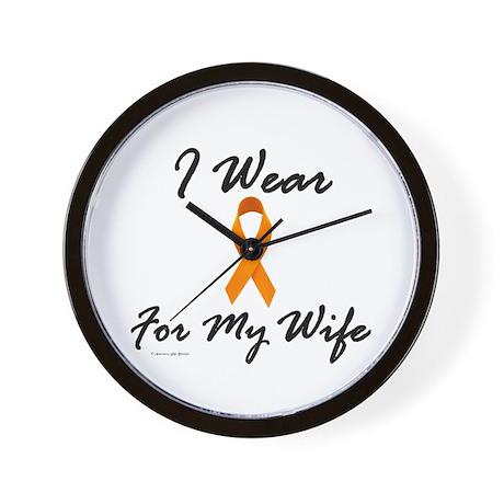 I Wear Orange For My Wife 1 Wall Clock