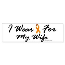 I Wear Orange For My Wife 1 Bumper Bumper Sticker