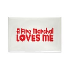 A Fire Marshal Loves Me Rectangle Magnet