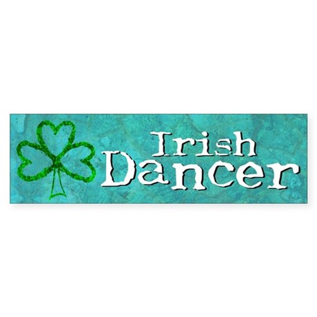 Shamrock Dancer Bumper Sticker