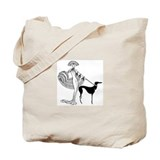 Art deco woman Canvas Totes